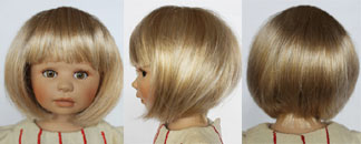 Monique Doll Wig size 5//6 New in Package ~ Margo ~ Brown W//Highlights~ Darling!